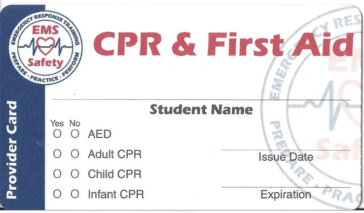 CALIFORNIA CPR AND FIRST-AID TRAINING